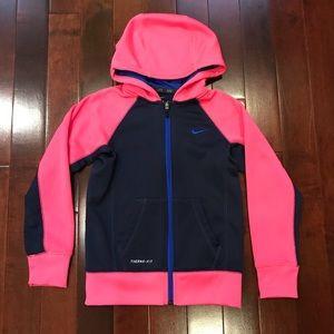 Nike Girls ThermaFit Zipper Zip Hoodie Sweatshirt